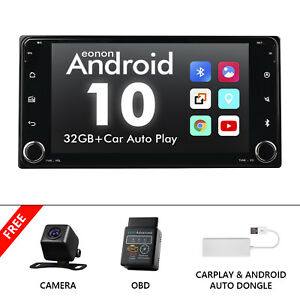 """OBD+CarPlay+CAM+For Toyota 7"""" Android 10 Car Radio Touch Screen Stereo GPS WIFI"""