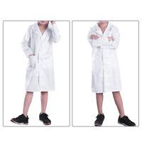 Kids Boys Girls Lab Coat Costume Doctor Uniform Medical Hospital Fancy Dress Up