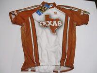 Texas  1/2 Zip Cycling Jersey Canari NWT Men's Size XXL Burnt Orange