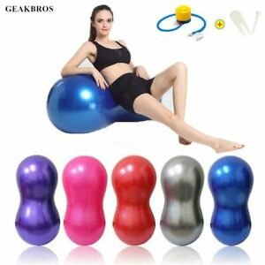 Yoga Ball Pilates Peanut Fitness Ball Gym Exercise Balance Fitball Massage Pump