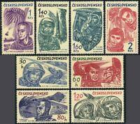 Czechoslovakia 1233-1240,MNH.Michel 1463-1470 World first 10 astronauts,1964.