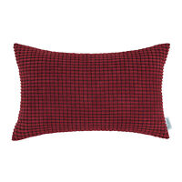 "Rectangle Bolster Pillow Throw Cushion Cover Shell Corduroy Corn Stripes 12""X20"""