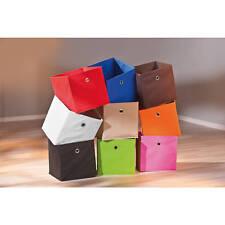Boite de rangement cube pliable casier à jouets module pour étagère ROUGE