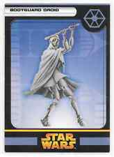 2005 Star Wars Miniatures Bodyguard Droid B Stat Card Only Swm Mini