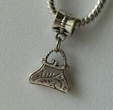 Handbag Bag Purse Charm Pendant fits European Bracelets Necklace Or Clip On