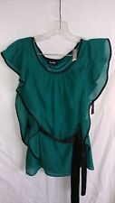 by & by womens emerald green small shirt blouse nwt new