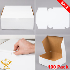 (100 Pack) Paperboard Cake Bakery Box Non Corrugated Restaurant 12