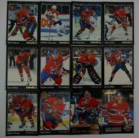 1993-94 Pinnacle Montreal Canadiens Team Set of 12 Hockey Cards Missing #85 #180
