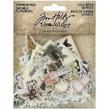 Tim Holtz Idea-ology Ephemera Pack Field Notes Snippets 134 Pieces Code TH94049