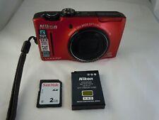 Nikon COOLPIX S8100 12.1MP Digital Camera - Red