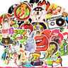 50 Rock Stickerbomb Sexy Girl Retrostickern Aufkleber Sticker Mix Decals Hasen