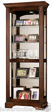 Howard Miller 680-420 Ricardo - Transitional Cherry Curio Display Cabinet