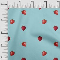 oneOone Popelin de algodon Tela fruta de la fresa impresion de la-FPN