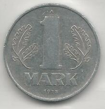 GERMANY, EAST, 1975-A,  1 MARK,  ALUMINUM,  KM#35.2,  EXTRA FINE