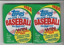 1984 TOPPS BASEBALL  2 WAX PACKS (POSSIBLE MATTINGLY ROOKIE)