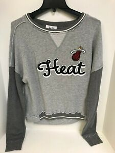 Miami Heat Women's Sweatshirt Grey Touch by Alyssa Milano Sample Medium