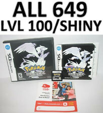 Pokemon Black DS lite DSi XL All 649 LvL 100 Shiny Game Unlocked Perfect IVs