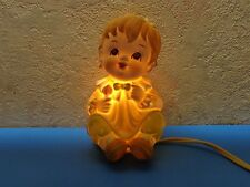 "Vintage Lefton Baby Child  Rattle Night Light Lamp 5 7/8"" Japan Lefton #1774 EXC"
