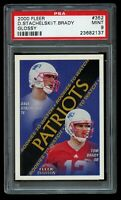2000 Fleer Tradition Tom Brady Glossy Rookie PSA 9 Mint RC #352 Dave Stachelski