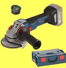 BOSCH batterie-meuleuse d'angle GWS 18v-125 Noir SOLO + L-BOXX 06019g3400