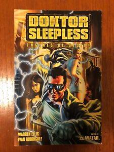 WARREN ELLIS - DOKTOR SLEEPLESS Vol1: ENGINES OF DESIRE TPB - Avatar Press RARE