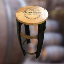 Recycled Solid Oak Whisky Barrel Stave Guinness Branded Bar Stool