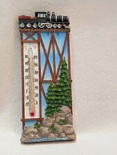 Spoontiques Resin Train and Trestle 3D Thermometer
