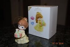 2009 Hallmark Disney Beauty Belle & Chip Precious Moments Xmas Keepsake Ornament