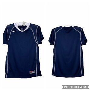 Nike Women's  Short Sleeve Size Small Jersey T-Shirt Navy 100% Polyester