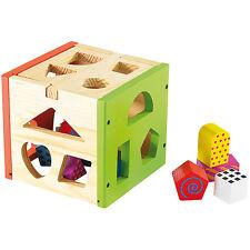 Spielsachen: Spannender Steckspiel-Würfel aus Echtholz (Steckwürfel)