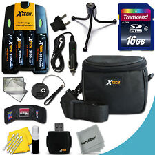 Xtech Kit for Nikon Coolpix L330 Ideal w/ 16GB Memry + 4 Bts & Chrgr +Case +MORE