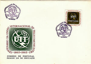 PORTUGAL FIRST DAY COVER , UIT