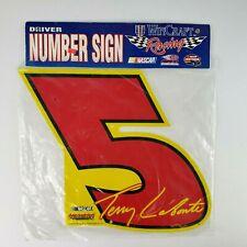 Vtg WinCraft Racing Nascar Driver Number Sign #5 Terry Labonte '98 Hendrick USA