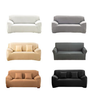 Pure Color Slipcover Sofa Covers Spandex Stretch Couch Cover Furniture Protector
