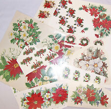 Ceramic Decals Christmas Floral Asst. Designs Poinsettia Holly Pine Cone Berry