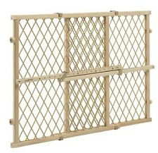 Baby Pet Gate Extra Wide Wooden Expanable Door Tall Infant Child Kid Safety