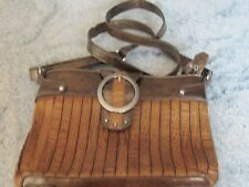 M C Marc Chantal crossbody brown faux croc leather purse handbag