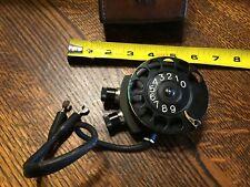 Phone Line Tester Vtg Lineman Antique Rotary Dial w/ leather case Telefon