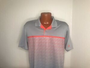 Mens Adidas ClimaLite S/S Polo/Golf Shirt Size Large (L) Gray - Polyester