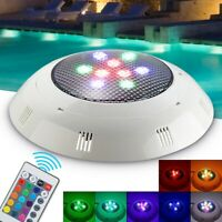 12V 9 RGB Underwater Swimming Pool Light Fountain Spa LED Lamp Remote