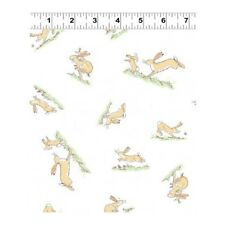 Fat Quarter Guess How Much I Love You 2018 Hares White Cotton Quilting Fabric