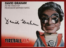 FIREBALL XL5 - DAVID GRAHAM as Professor Matthew Matic - AUTOGRAPH CARD DG1