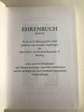 EhrenbuchBayer.  Reiter- und Kavallerie-Regiments 17, Militaria, Gefallene
