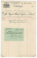 (I.B) George V Revenue : Receipt Note (Royal Blind Asylum - Edinburgh)