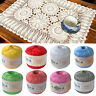 50g Lace Yarn for Hand Knitting Crochet Thin Thread for DIY Pillow Lace Supplies