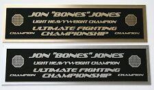Jon Jones UFC nameplate for signed mma gloves photo or case