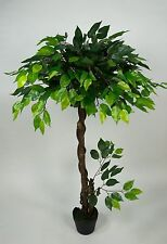 Ficuskugelbaum 120cm grün ZJ Kunstbaum Kunstbäume künstlicher Ficus Fikus Baum