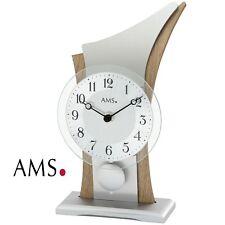 Ams 44 Table Clock Quartz Pendulum Mineral Glass Sonoma Look 669