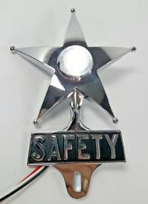 Safety Star License Plate Topper, Dual Function White LED, VTG Car Accessory