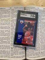 Michael Jordan SGC 7.5 Fleer 1991 #29 Card Collector CHI TOWN Last Dance Slab NR